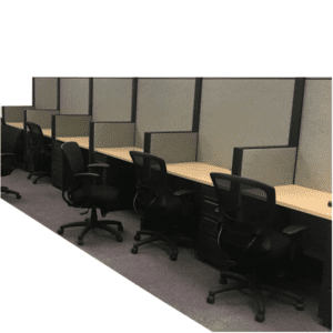 "64"" Tall Used Cubicle Workstation Walls"