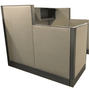 "Haworth 6x6 Cubicle with 48"" & 64""H Monolithic Acoustical Fabric Walls"