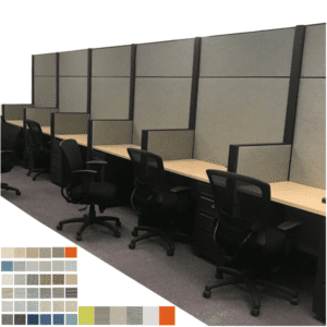 "Refurbished Acoustical Powered Work Wall 80"" Tall"