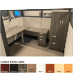 Height Adjustable Cubicle with 9 Finish Colors