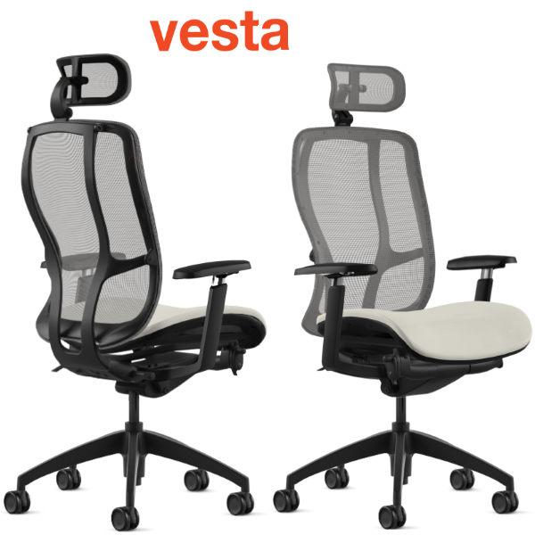 Vesta High Back with Headrest from 9to5 Seating