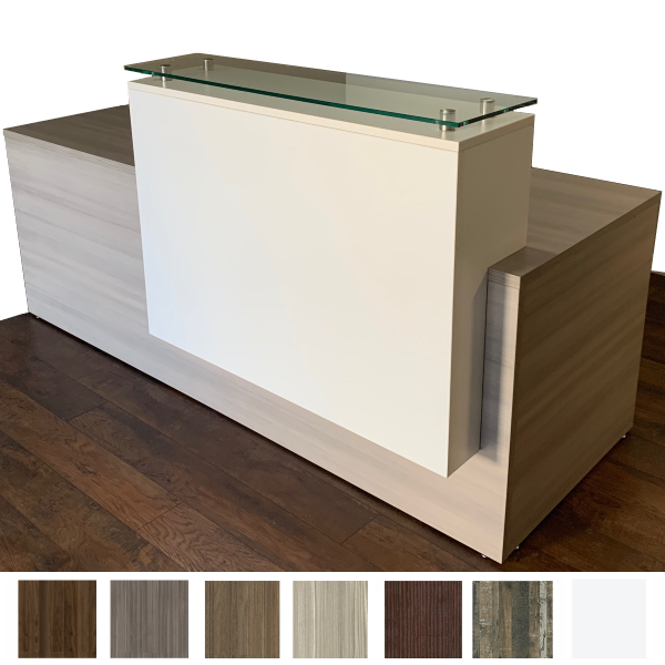 Deskmakers Overture Reception Desk with Glass Counter