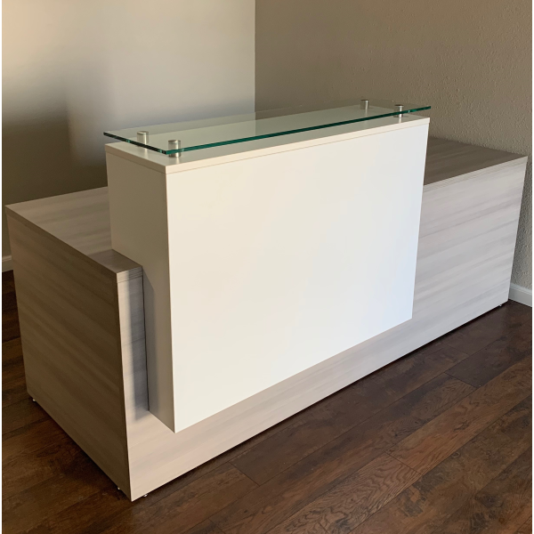 Overture Reception Desk with Stack On Counter