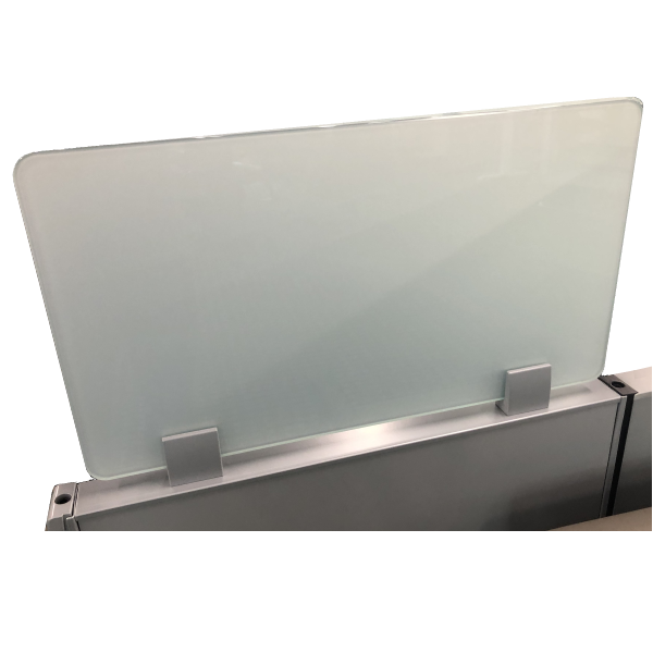 Cubicle Height Extender Topper Frosted Glass Screen
