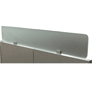 "Express Frosted Glass Screens - 12""H - Cubicle Topper"