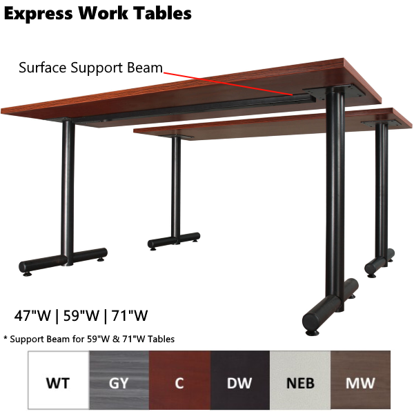 Multi-Use Work Table with Steel Support for Surface