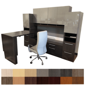 Indiana Gesso Height Adjustable Workstation Suite