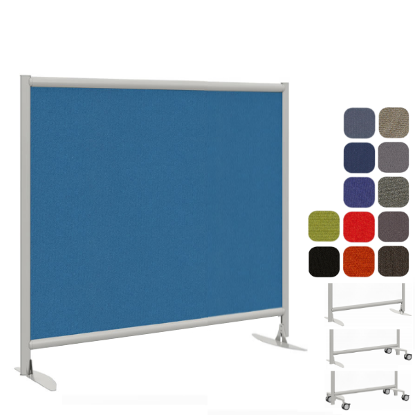 """49""""W x 48""""H Monolithic Fabric Wall - Freestanding Divider"""