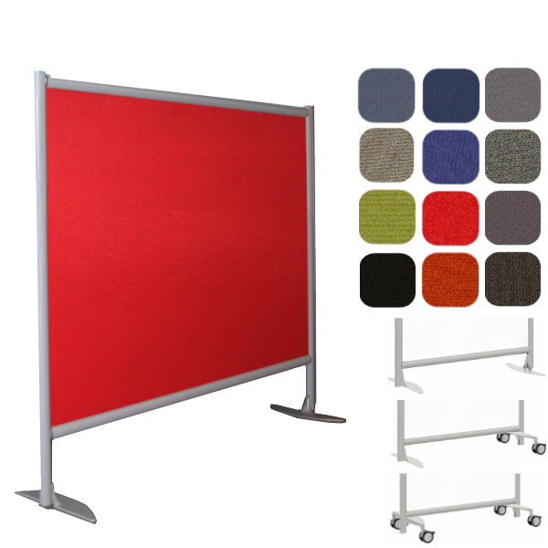 """61""""W x 48""""H Freestanding Fabric Wall Partition"""
