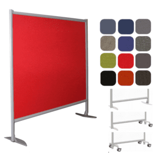 "61""W or 73""W x 54""H Freestanding Fabric Wall Partition"