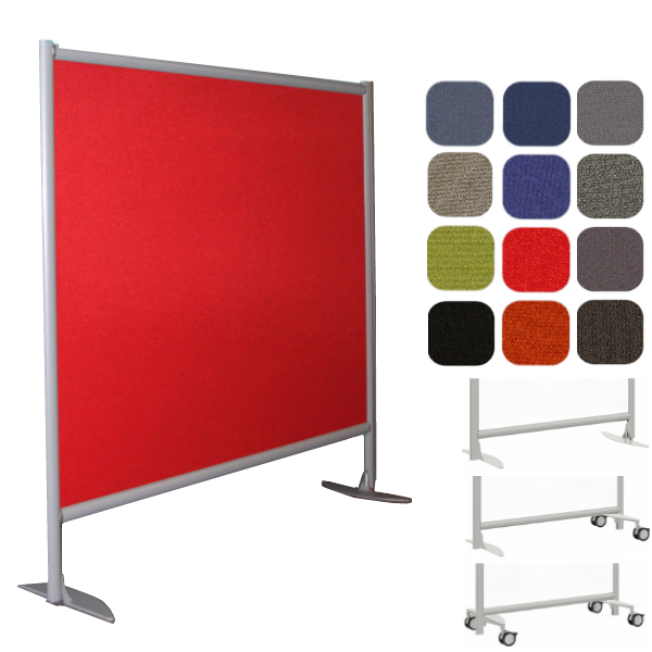"""61""""W or 73""""W x 54""""H Freestanding Fabric Wall Partition"""