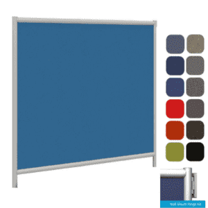 Wall Attaching Fabric Divider - Office Partition Mounts to Wall