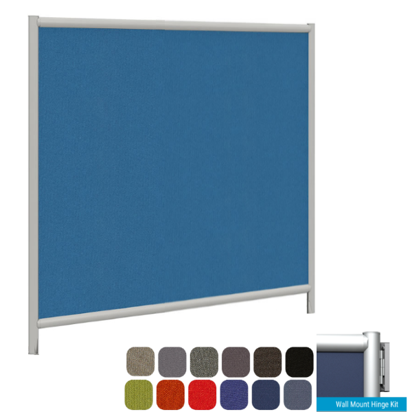 Wall Attaching Fabric Divider - Office Fabric Partition Mounts to Wall