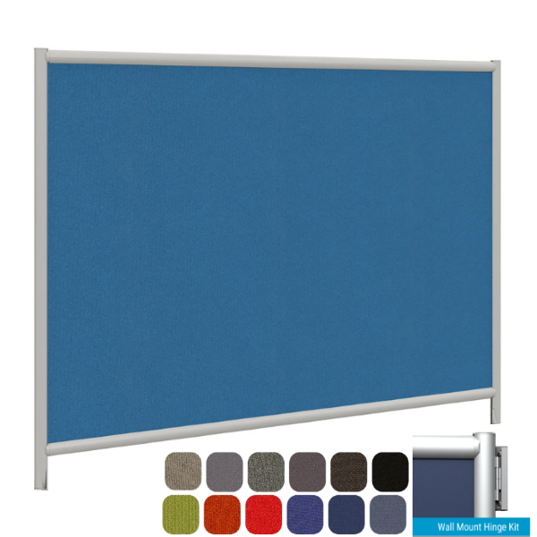 """73""""W Modular Wall Mount Fabric Partition"""