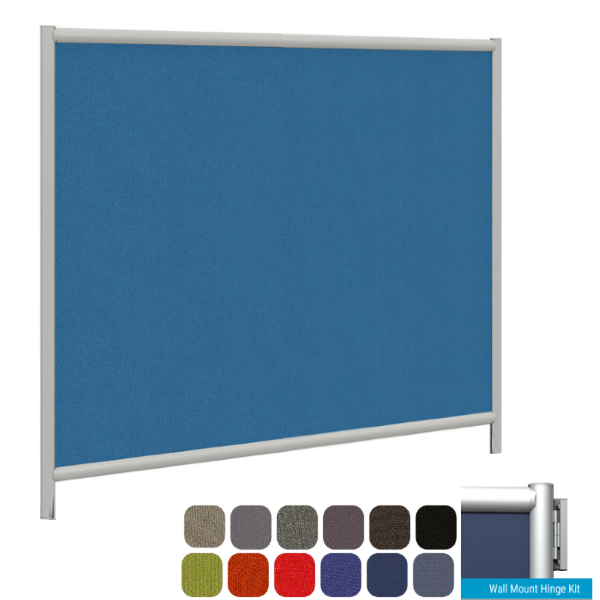 """61""""W Wall Mount Fabric Partition"""