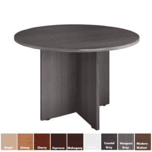 Round Table with Laminate X-Base in 9 Colors & 3 Sizes