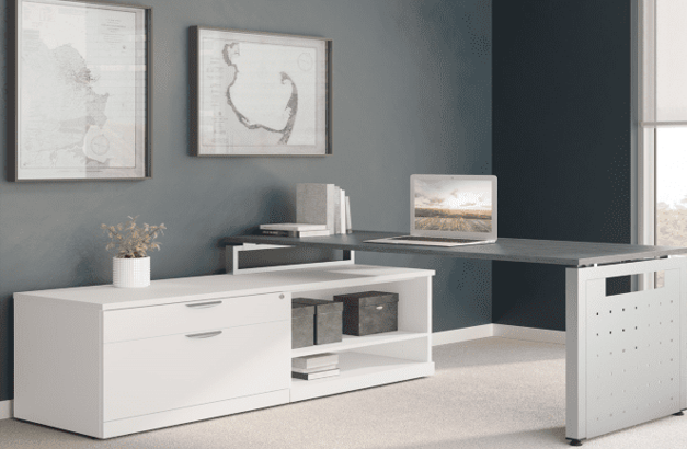 PL L-Shaped Benching Desk