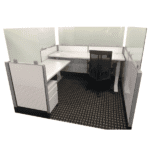 Cubicle Height Frosted Glass Extender Panels