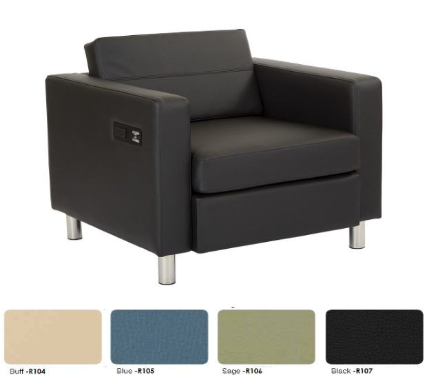 Dillon Charging Club Chair | 4 Colors | G2