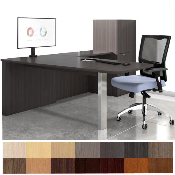 Canvas Media Peninsula Executive L-Desk