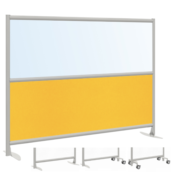 Clear or Frosted Acrylic and PET Acoustic Panel Office Partition for Privacy