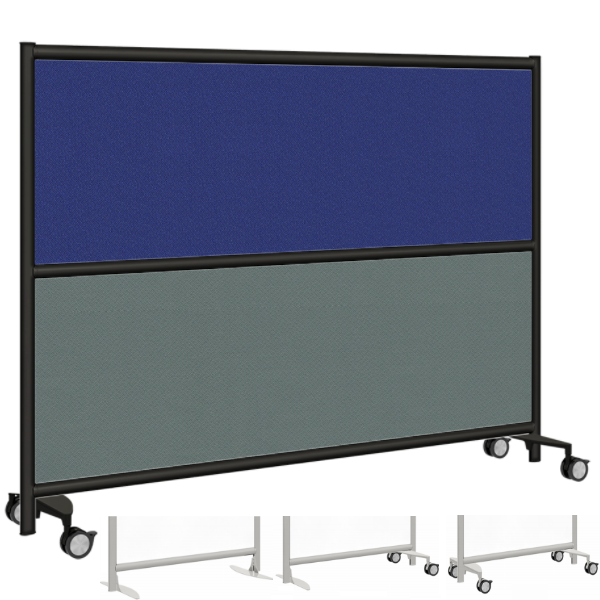 Blue and Gray Fabric Room Divider