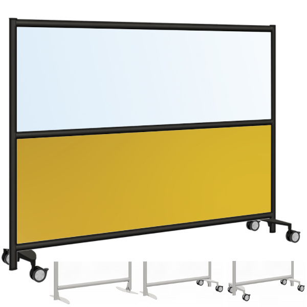 Frosted & Colorful Acrylic Mobile Office Panel