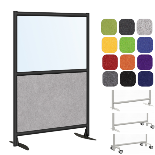 Clear or Frosted Plexi & Acoustical Panel - Sound Masking Panel