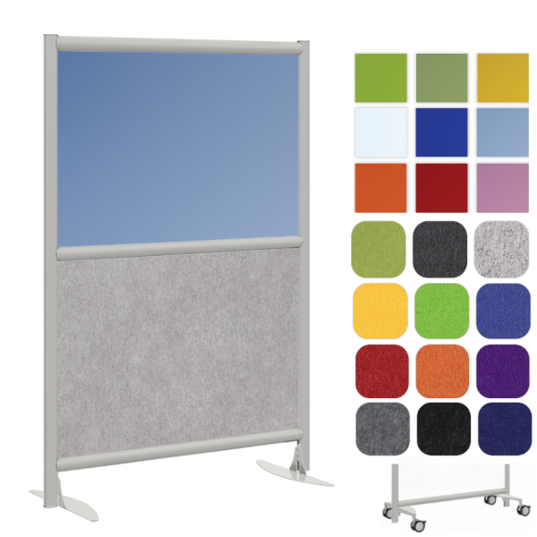 Blue Acrylic Panel with Acoustic Felt Material