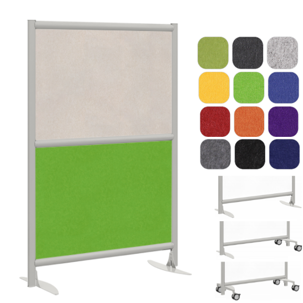 Double Acoustical Sound Masking Room Divider - Two Core Panel