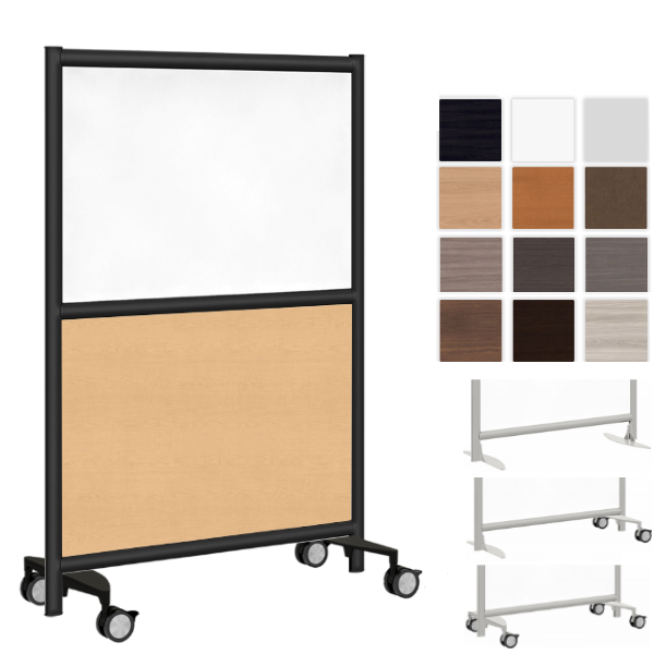 "37""W Two Core Room Divider - AW Office Furniture - Mobile Wall Solutions"