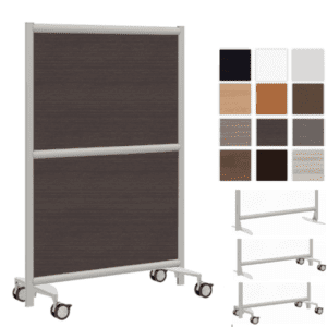 Laminate Walls - Freestanding & Mobile Laminate Finish Room Dividers
