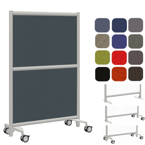Mobile Freestanding Fabric Wall Partition - Room Dividers