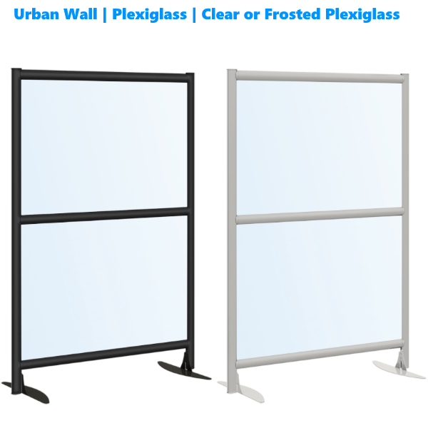 Black or Satin Aluminum Frame Plexi Acrylic Panels - 54