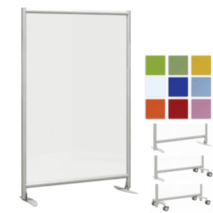 Tall Office Dividers - Clear or Frosted Acrylic