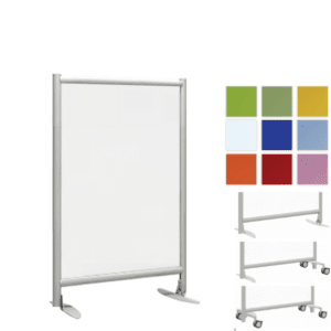 "30""W 37""W x 48"" or 54""H Freestanding Acrylic Office Room Panel"