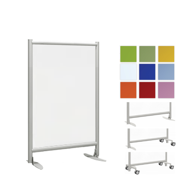 """30""""W 37""""W x 48"""" or 54""""H Freestanding Acrylic Office Room Panel"""