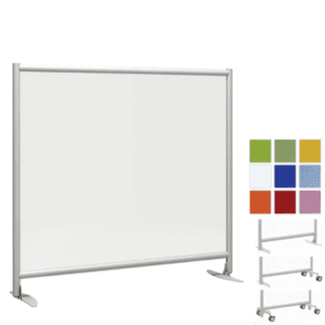 Mid Wall Office Panel Room Divider - Acrylic