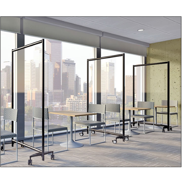 Clear Acrylic Panels - Mobile Room Dividers - Clear Plexiglass Material