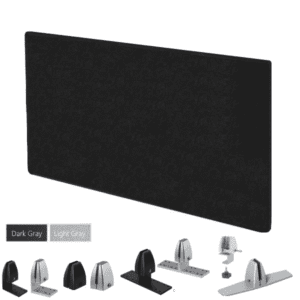 "24"" Tall Acoustical Felt Panel - Light or Dark Gray"