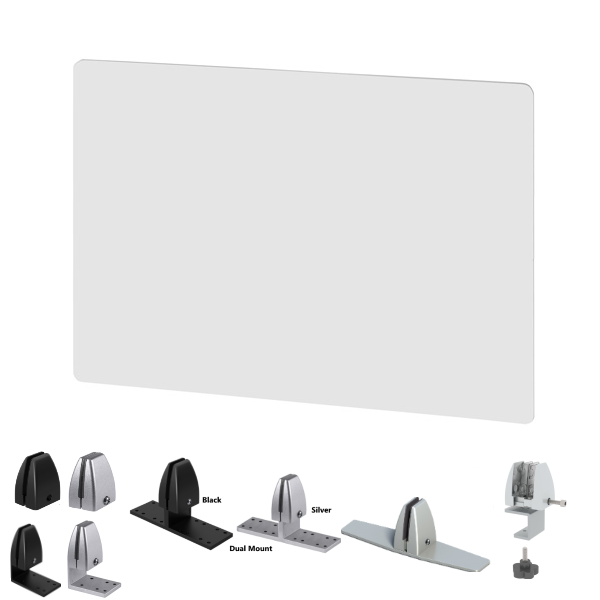 "30""H Acrylic Desk Screen - 24""W 30""W or 36""W"