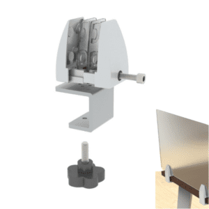 Adjustable Temporary Desk Bracket to Hold Desktop Privacy Screens