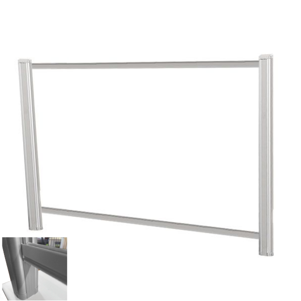 """60""""W x 24""""H Clear Desk Shield - AW Office Furniture"""