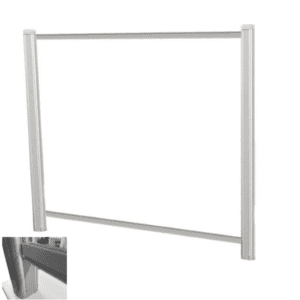 "48"" x 36"" Clear Transactional Screen for Desks with 3"" Underneath Clearance"