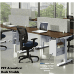PET Acoustic Desk Screens and Shields - Desk Mount Privacy Screens - Soundproofing Material