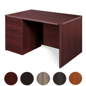 "Napa 48"" Desk with 3-Drawer Box Box File Pedestal"