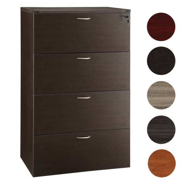 Napa 4-Drawer Lateral File - 5 Finish Colors