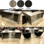 Napa Glass Front Desk Collage - Anderson & Worth Office Furniture - Dallas