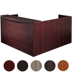 Napa L-Shape Reception Desk with High Wall Return - Left