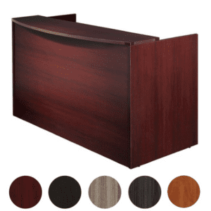 NAP 122 Reception Desk Mahogany - Napa NAP122